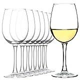 CREST Copas de Vino Blanco, juego de 8, 12 oz, Vaso de Cristal