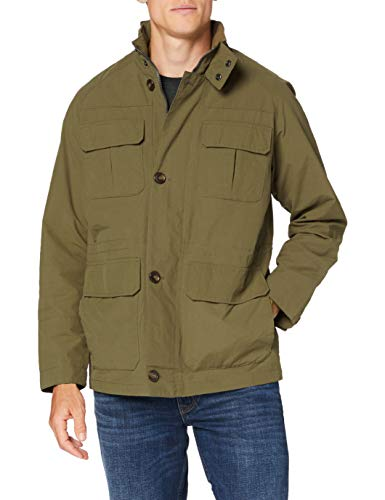 Cortefiel C9cs Field Jacket 4 Bolsi Giacca, Multicolore (Botella 20), Large Uomo