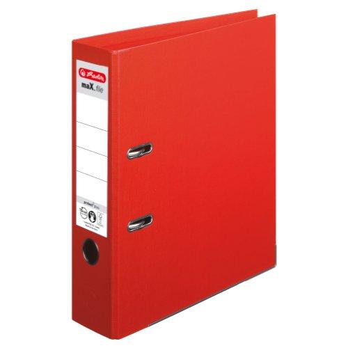 Herlitz 10834323 Ordner maX.file protect+ (A4, 8 cm) rot