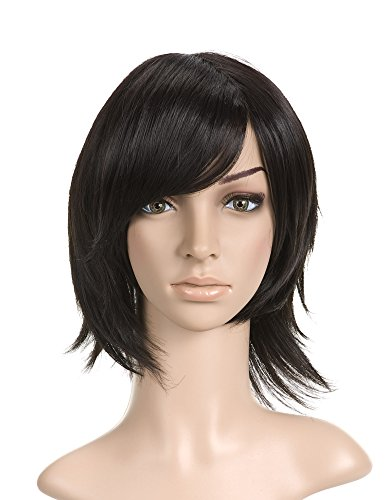 Black Styled Short Length Cosplay Costume Wig