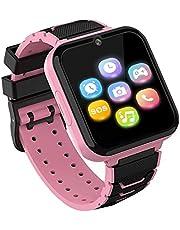 Kids Smartwatch Telefoon voor jongens meisjes met HD Touchscreen, Smart Horloge voor kinderen met Games Muziekspeler Twee-weg Call SOS Zaklamp Calculator Recorder Wekker, Verjaardagscadeaus voor 3-12Y