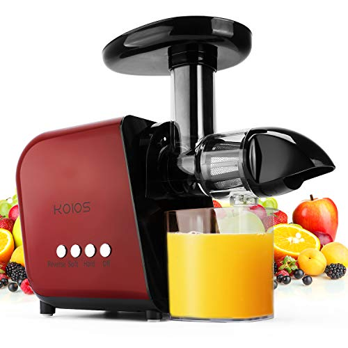 KOIOS Juicer, Slow Masticating Juicer Extractor with Reverse Function, Cold Press Juicer Machine...