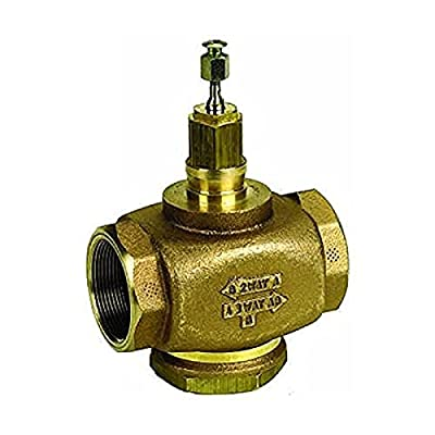 Three-way Globe Valve, 1 1/4 in Female NPT, Water or Glycol from Honeywell, Inc.