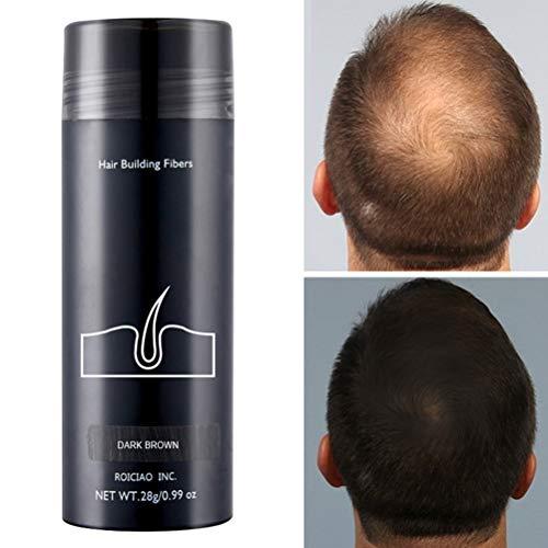 Twakom Hair Fiber, Streuhaar zur Haarverdichtung, Schütthaar für volles Haar in Sekunden, zum Kaschieren von lichten Haaren, Haarpulver gegen kahle Stellen, 28g