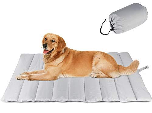 G.C Cama para Perros Grandes Medianos Pequeños, Impermeable Colchoneta Perro Gato Antiestres Relajante Colchón Suave y Cómodo Cojín para Mascotas Lavable y Portátil