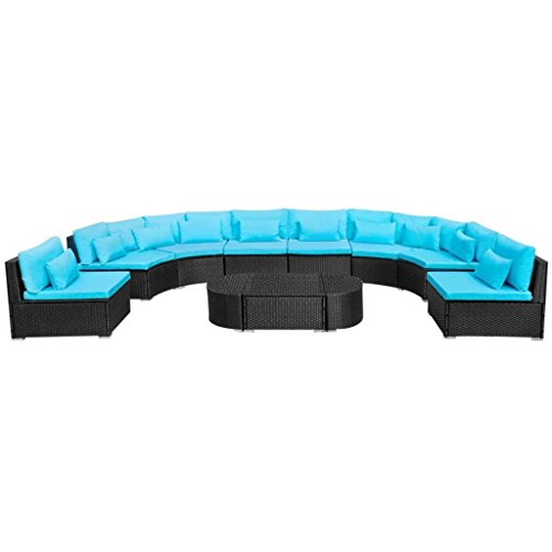 SSITG Poly Rattan Garden Furniture Seating Set Sofa Set Lounge Garden Furniture