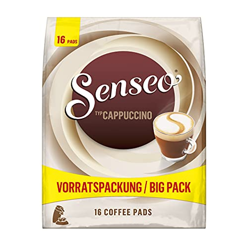 Senseo Pads Cappuccino, 80 Kaffeepads, 5er Vorteilspack, 5 x 16 Getränke in der Vorratspackung, 0.92 kg