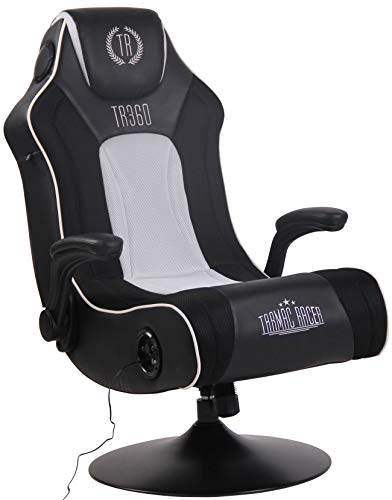 CLP Gaming Soundsessel Nevers Kunstleder I Sessel Mit 2.1-System Für Gaming Und Musik I Drehsessel Mit Bluetooth, Farbe:schwarz/weiß