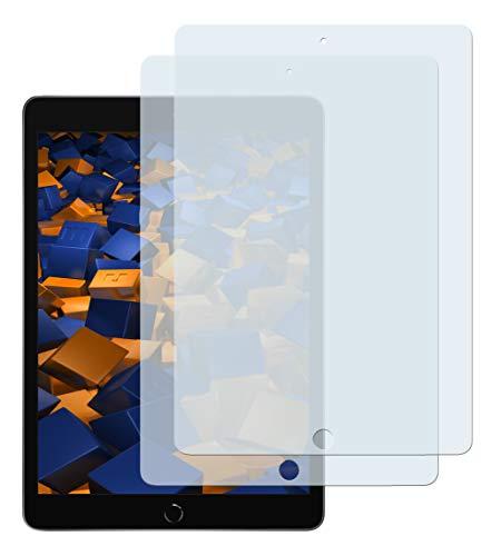 mumbi Schutzfolie kompatibel mit iPad 10.2 Zoll 2019, Displayfolie klar, Displayschutzfolie (2X)