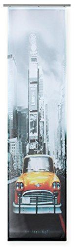 Haus und Deko Flächenvorhang Bedruckt ca. 60x245 Schiebegardine halbtransparent Gardine New York