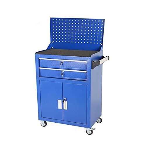 2-Schublade Rollende Werkzeugkiste, Werkzeugschrank, Werkzeugkasten mit 4 Rädern, Tragbare Top-Box...