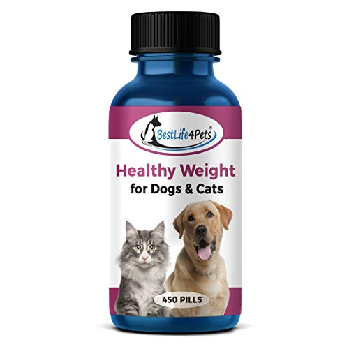 Healthy Weight Supplement for Cats and Dogs - Helps Overweight Pets Control Obesity Through Healthy Fat Burning, Improved Metabolism and Gentle Suppression of Appetite and Cravings (450 Pills)