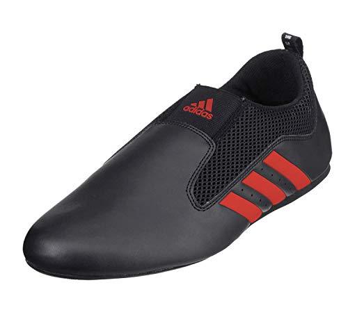 adidas Contestant Pro Ultralight Martial Arts Kung Fu Taekwondo Indoor Mat Training Shoes - Black Red - Size 10.5 (285mm)