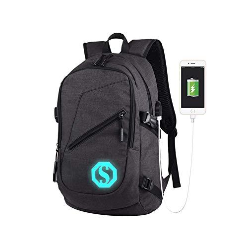 DAGE USB Geschäft Brachliegen Rucksack Männer Rucksack Oxford Tuch Mittelschüler Mode Computer Schultasche,Black