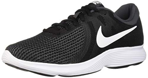 Nike Men's Revolution 4 Running Shoe, Black/White - Anthracite, 12 Wide US