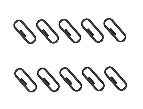 Replacement Fastener Ring for Garmin Vivosport Band Keeper (pack of 11) Silicone Security Loop for Garmin vívosport Smart Activity Tracker (Black)