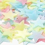 Pegatinas Estrellas Fluorescentes, ZoneYan Luminoso Pegatinas de Pared Estrellas, Adhesivos...