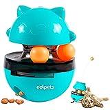 Edipets, Juguetes Interactivo para Gatos, Bola Dispensador, Alimentador de Comida, para Mascotas Pequeñas y Medianas (Azul)