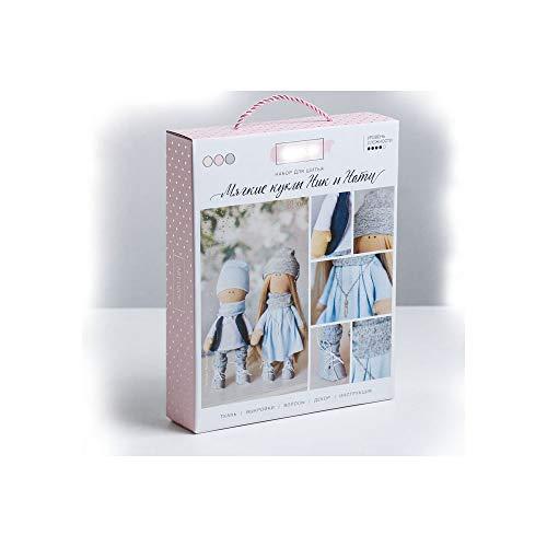 GMMH Nähset Bastelset zum Selbermachen Puppen (Nik und NATI)