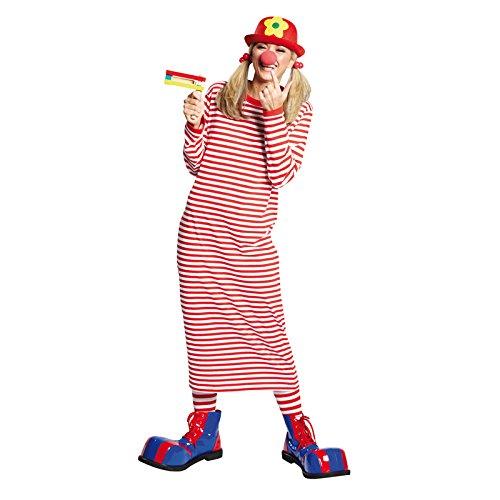 PARTY DISCOUNT NEU Damen Kostüm Rivel-Shirt rot-weiß Gr. 42