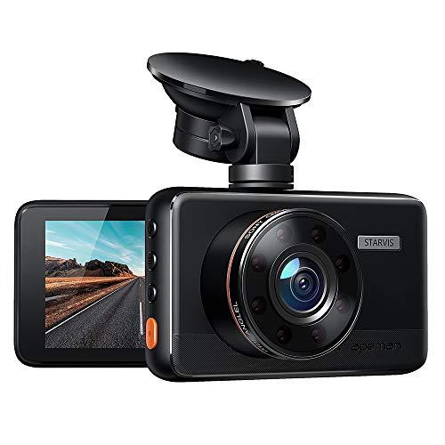 apeman Dashcam Full HD Autokamera 1080P DVR mit 170¡ã Weitwinkelobjektiv, Infrarotfunktion, WDR, Bewegungserkennung, Parkmonitor, Loop-Aufnahme, Nachtsicht und G-Sensor
