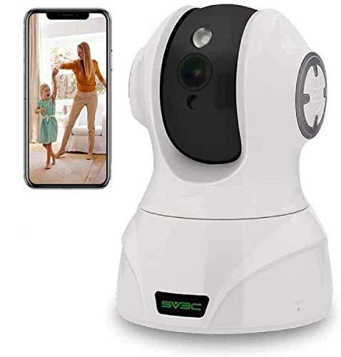 Telecamera wi-fi Interno, SV3C HD 5MP Videocamera Sorveglianza Interno wifi IP Camera PTZ con Visione Notturna, Rilevamento di Movimenti/Volti/Suoni, Audio a 2 vie, Archiviazione di Cloud/Scheda SD