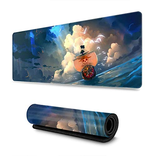 One Piece Custom Mouse Pad Anime Mouse Mat Home Office Computer Gaming Mousepad Desk Mat 31.5x11.8 Inch