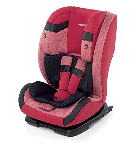 Foppapedretti Re-klino Fix Silla de coche Grupo 1-2-3 (9-36 Kg) Isofix, FIX SEGG.AUTO, Rojo (Cherry)