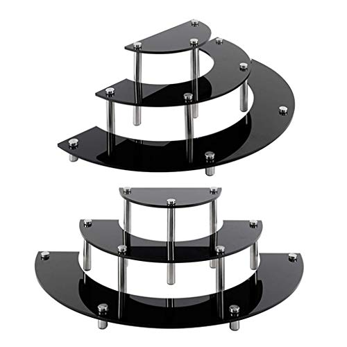 T TOOYFUL Black Acrylic Collectibles Dolls Charaktermodelle Display Risers Stand