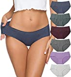 Womens Underwear Cotton Panties for Women, Soft Seamless Ladies Underwear Bikini Pack (R328L -Solid)