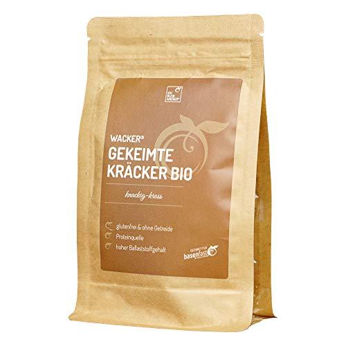 Wacker Gekeimte Kräcker Bio 75g. Der gesunde Snack von Sabine Wacker. Glutenfrei & ohne Getreide. Proteinquelle. Hoher Ballaststoffgehalt.