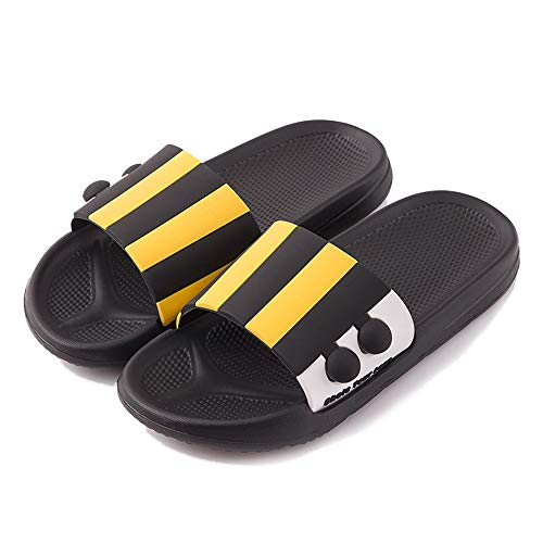 Dames/Heren Slippers Non-Slip Douche Sandalen Summer House Slides Soft EVA Sole Beach Pool Schoenen Badkamer Water Schoenen,Black,39/40EU