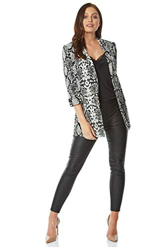 Blazer Animal Print Mujer Marca Roman Originals