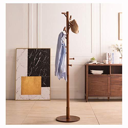 Jixi Perchero de pie con 10 ganchos, soporte de madera de pie, para la entrada, para el pasillo, para sombreros, ropa (color: C)