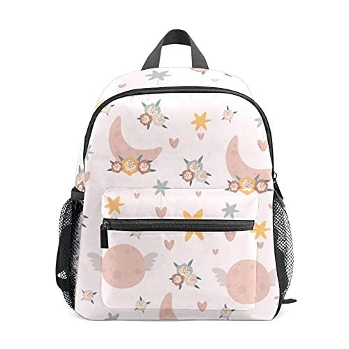 Mini mochila para niñas en colores pastel Swing Moon Star pequeña mochila para mujeres 12 pulgadas bolsa de viaje bolsa de escuela para niñas y niños
