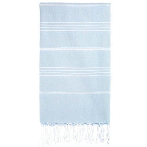 Cacala Toallas de baño Turco de Serie, algodón, Azul Celeste, 95 x 175 x 0.5 cm