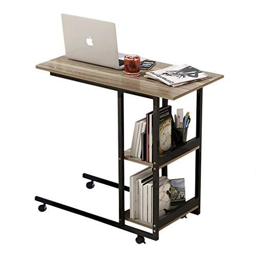 Home Office Medical Overbed tavolo su ruote a 3 ripiani, scaffali di archiviazione per computer portatile portatile scrivania vassoio TV tavolo tavolino tavolino rotante lato caffè anzian