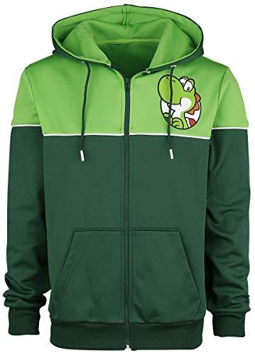 SUPER MARIO Yoshi's Adventure Männer Kapuzenjacke grün S