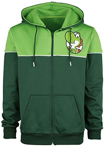 SUPER MARIO Yoshi's Adventure Uomo Felpa jogging verde M 100% poliestere Regular