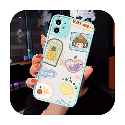 Lindo anime chica aperitivos Teléfono Carcasas Mate transparente para iPhone 12 Mini 11 Pro XR XS Max 7 8 Plus X contraporta-a3-iPhone12pro