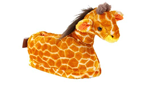 9029-2 - Giraffe - Medium - Happy Feet Kids and Adult Animal Slippers