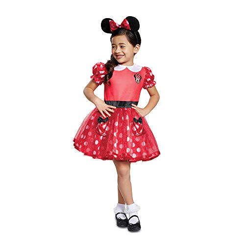 Disguise Red Minnie Mouse Toddler Child Costume, Red, Size/(2T)