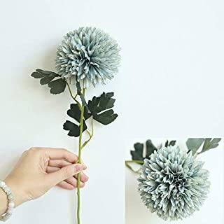 Stephen Artificial & Dried Flowers - yo cho Artificial Flowers Pompom Dandelion Fake Flowers Silk White Pink Flower Ball Wedding Party Home Decoration Pompon Bouquet - by 1 PCs
