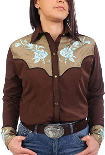 Last Rebels Country - Camisa para mujer, color marrón marrón XX-Large