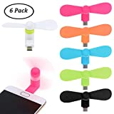 Funmo - Mini USB Ventilatore, Mini del Ventilatore, Portable Telefono Cellulare Ventola pe...