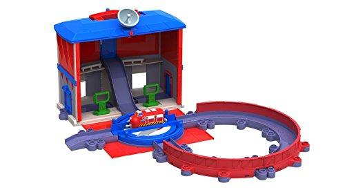 Tomy Chuggington - LC54244 - Circuit de Trains Miniatures et Rails - QG Des Locos de Secours