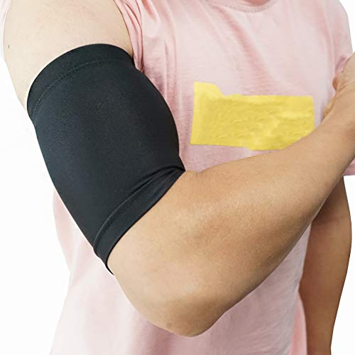 Luwint Compression Upper Arm Sleeve – Biceps/ Triceps Tendon Brace Support for Workouts, Cycling, Running, Basketball, Volleyball, 1 Pair (M)