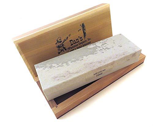 echtem Arkansas Kombination Soft (mittel) und Hard (gut), Messer schärfen Bench Stone Schleifstein 15,2x 5,1x 2,5cm in Holz Box mfc-6-c
