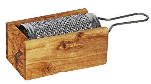 NATURES essentials Olive Wood Cheese Grater, Medium