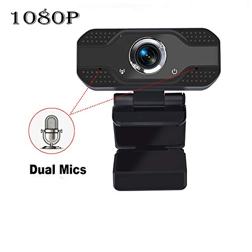 Webcam 1080p HD Computer Camera - USB PC Computer Camera with Microphone Smart Streaming Web Cam for Laptop Desktop Notebook, Video Calling, Recording, Conferencing, Gaming